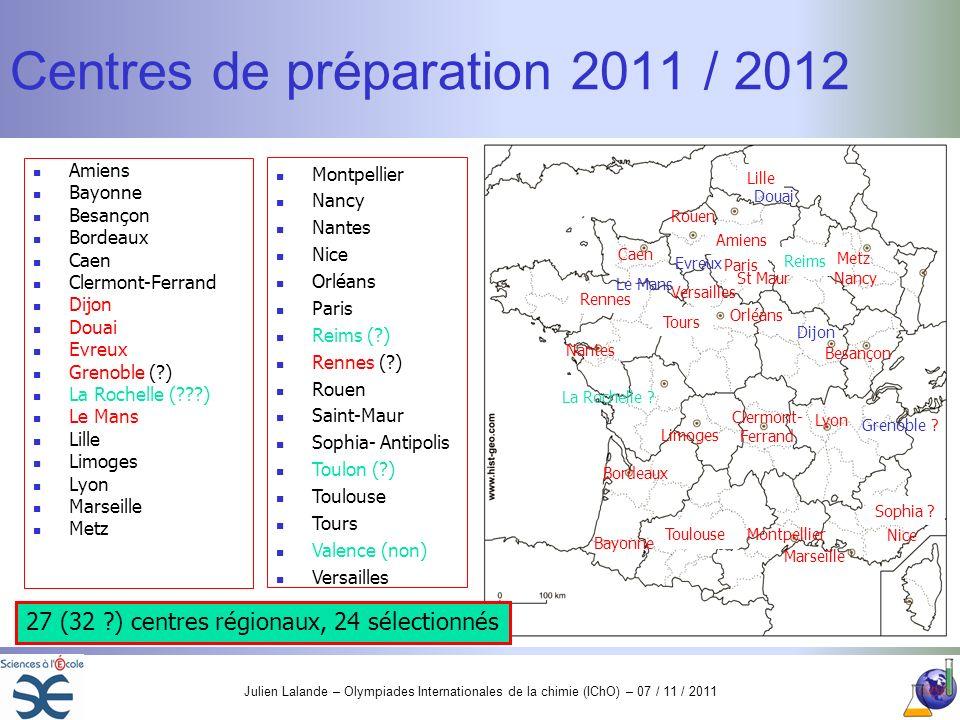 Centres de préparation 2011 / 2012