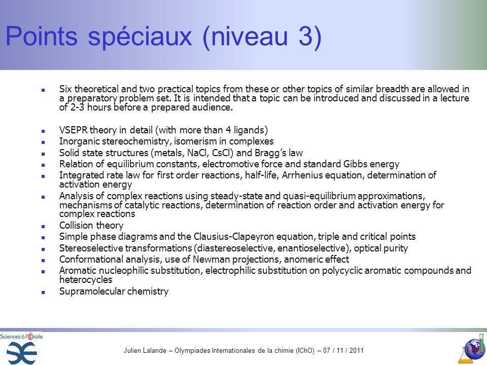 Points spéciaux (niveau 3)