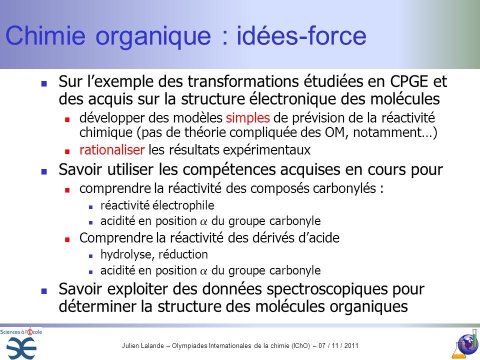 Chimie organique : idées-force
