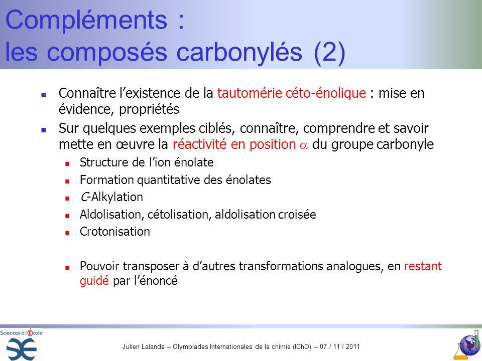 Compléments : les composés carbonylés (2)
