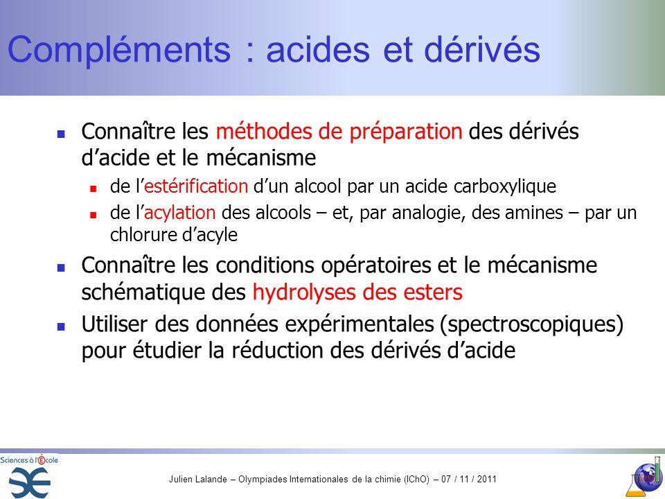 Compléments : acides et dérivés