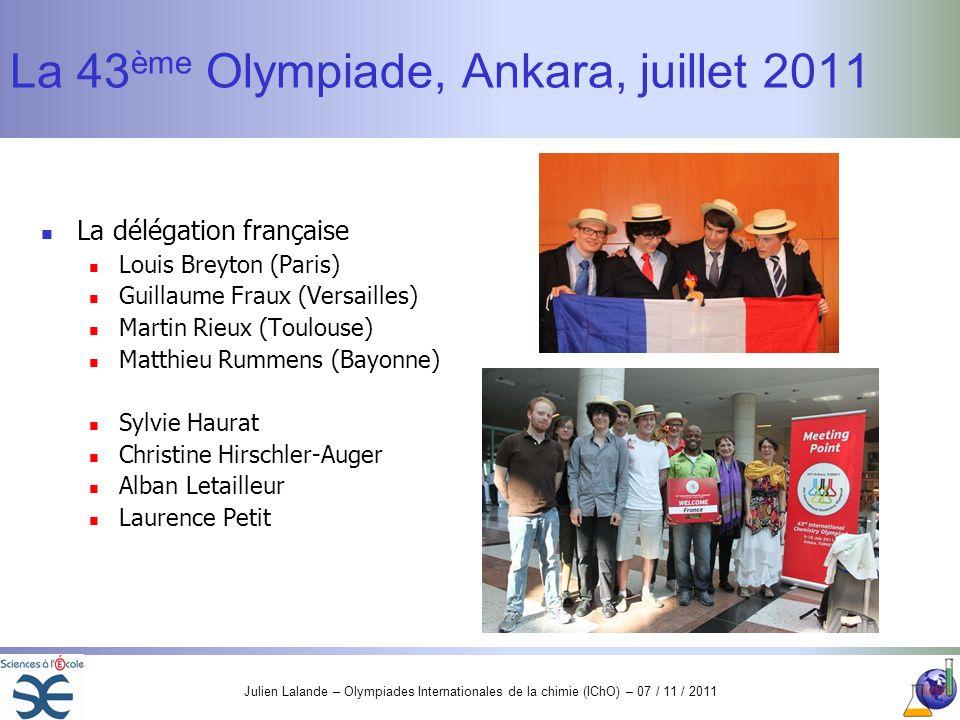 La 43ème Olympiade, Ankara, juillet 2011