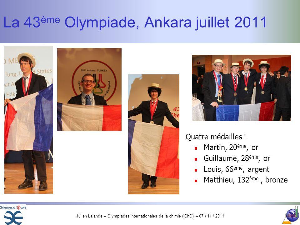 La 43ème Olympiade, Ankara juillet 2011