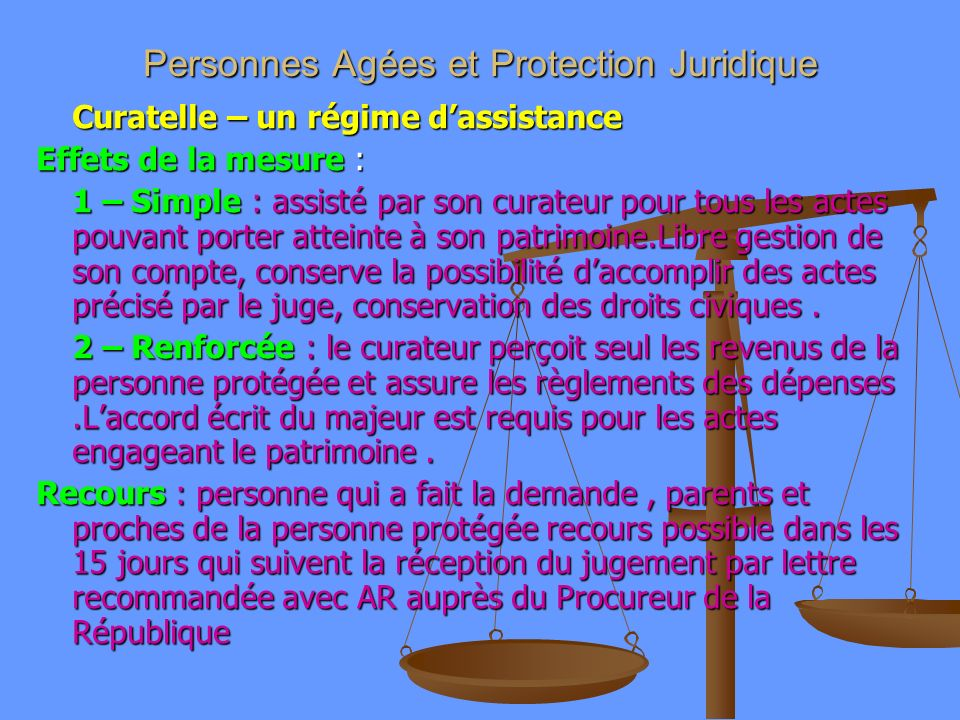 Personnes Agées et Protection Juridique