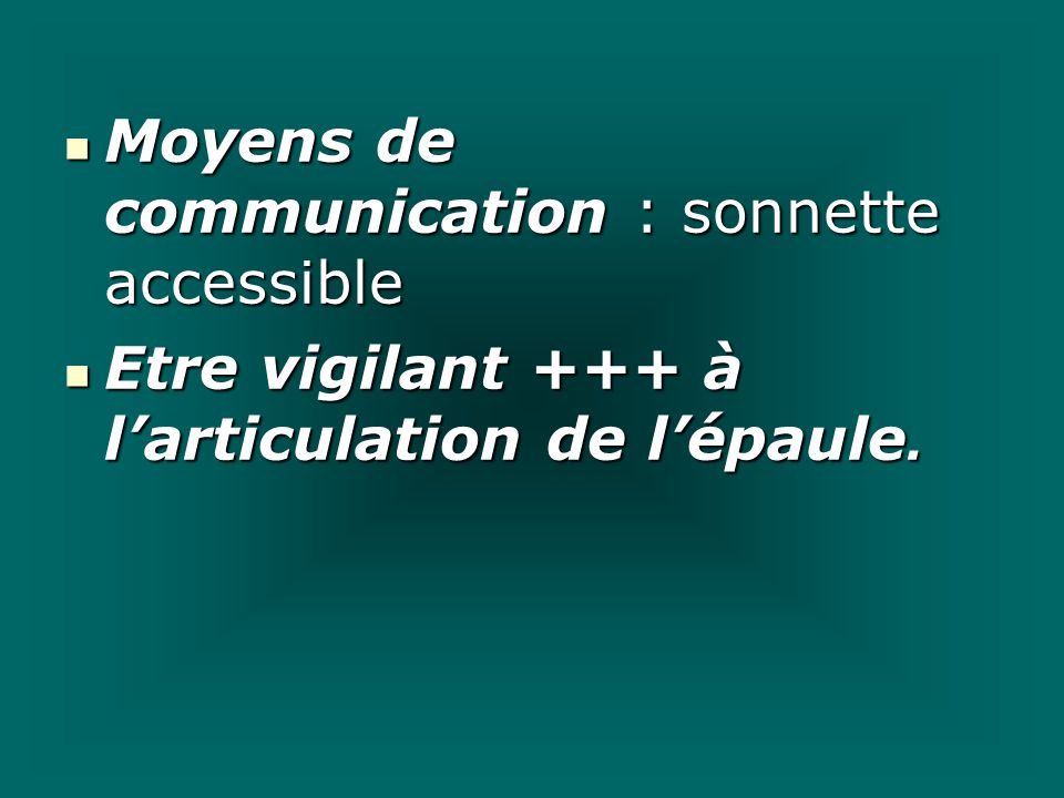 Moyens de communication : sonnette accessible