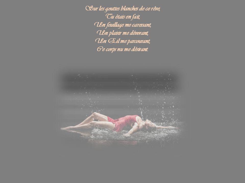 Sur les gouttes blanches de ce rêve, Un feuillage me caressant,