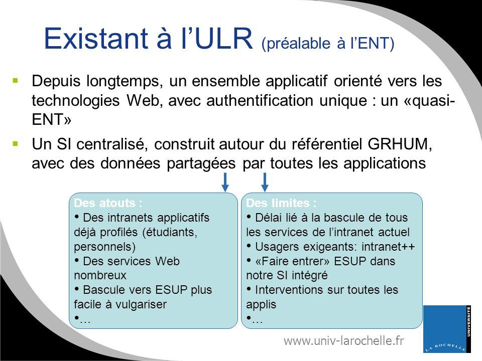 Existant à l'ULR (préalable à l'ENT)