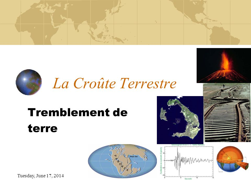 La Croûte Terrestre Tremblement de terre Sunday, April 02, 2017