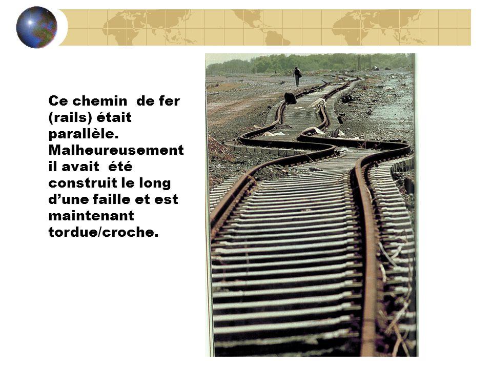 Ce chemin de fer (rails) était parallèle