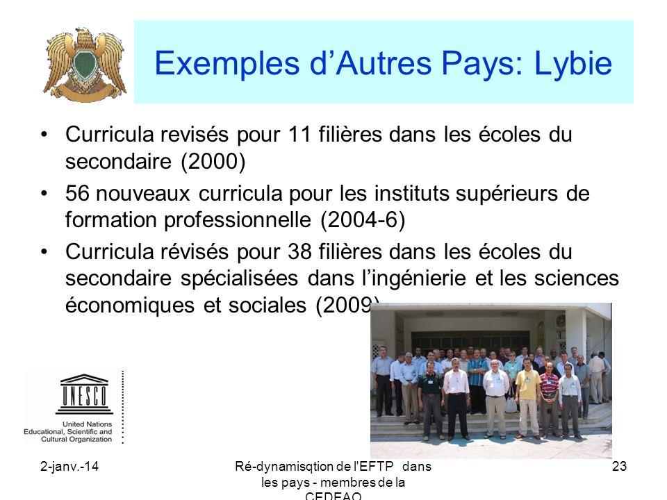 Exemples d'Autres Pays: Lybie