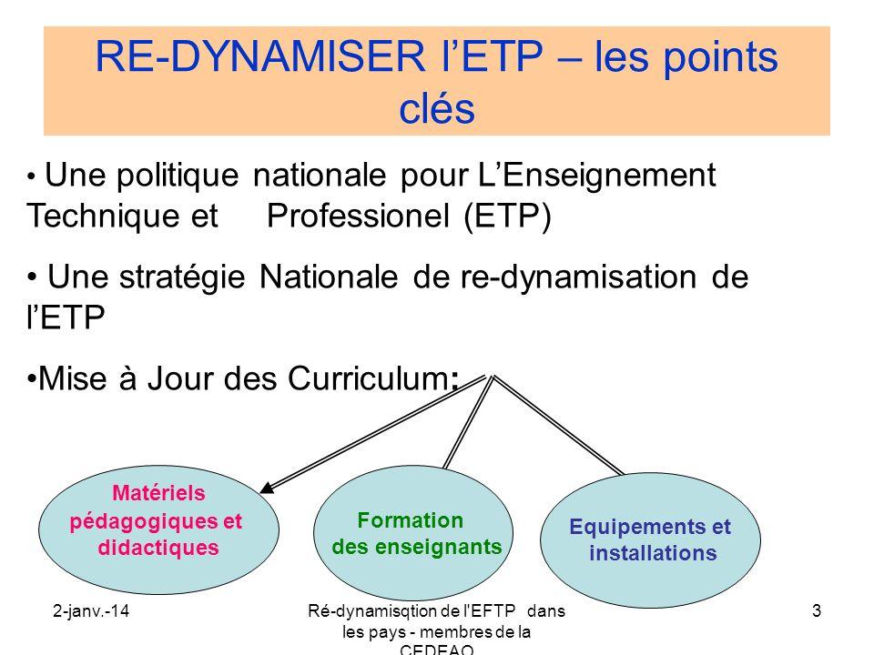 RE-DYNAMISER l'ETP – les points clés