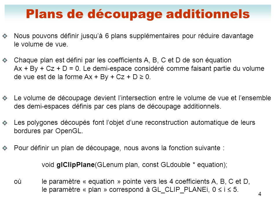 Plans de découpage additionnels