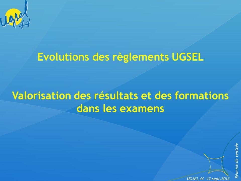 Evolutions des règlements UGSEL