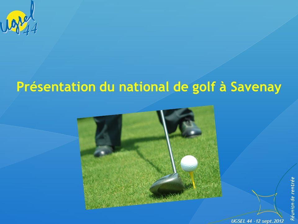 Présentation du national de golf à Savenay