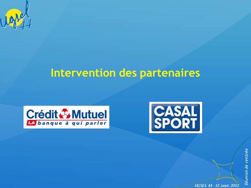 Intervention des partenaires
