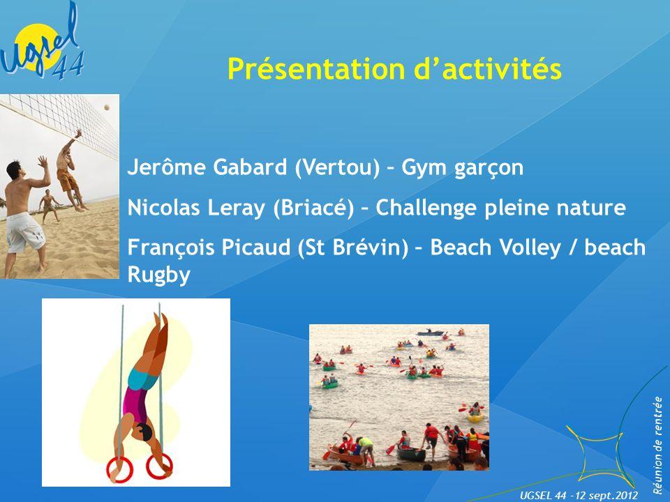 Présentation d'activités