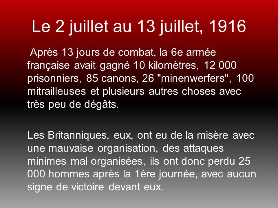 Le 2 juillet au 13 juillet, 1916