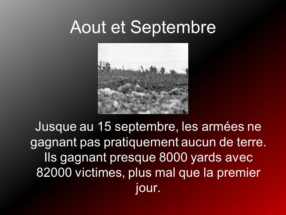 Aout et Septembre
