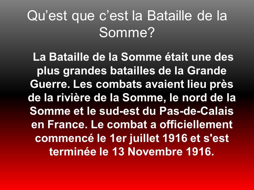 Qu'est que c'est la Bataille de la Somme