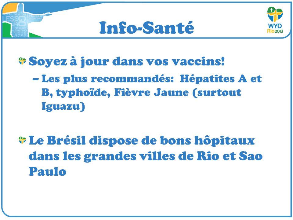 Info-Santé Soyez à jour dans vos vaccins!