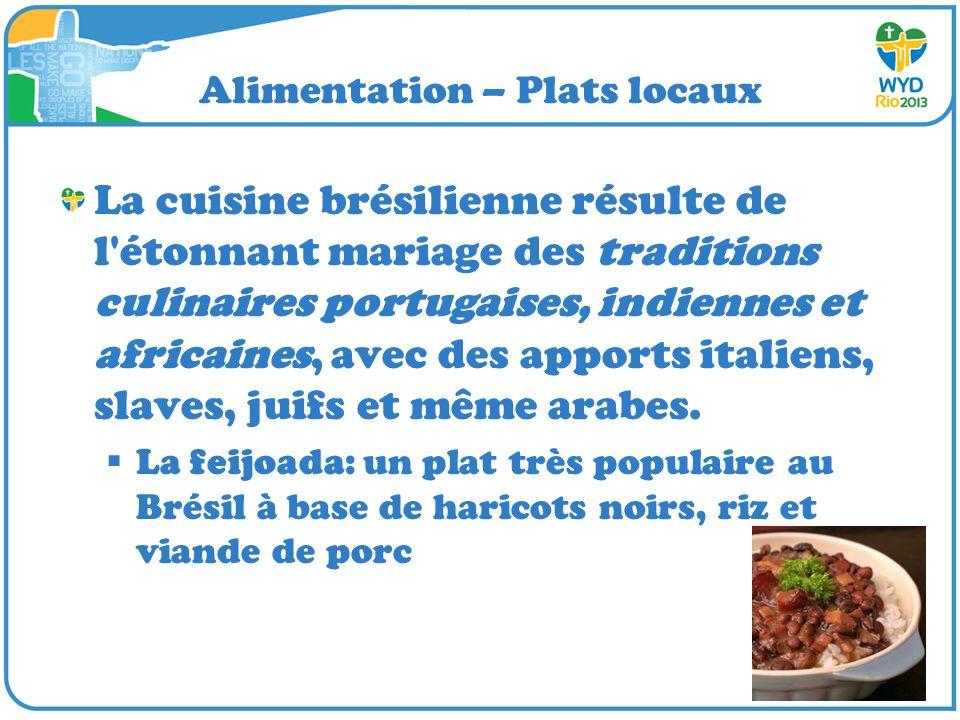 Alimentation – Plats locaux