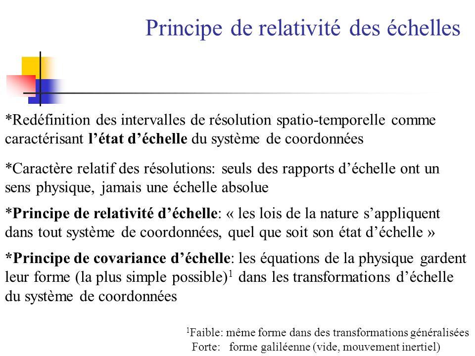 Principe de relativité des échelles