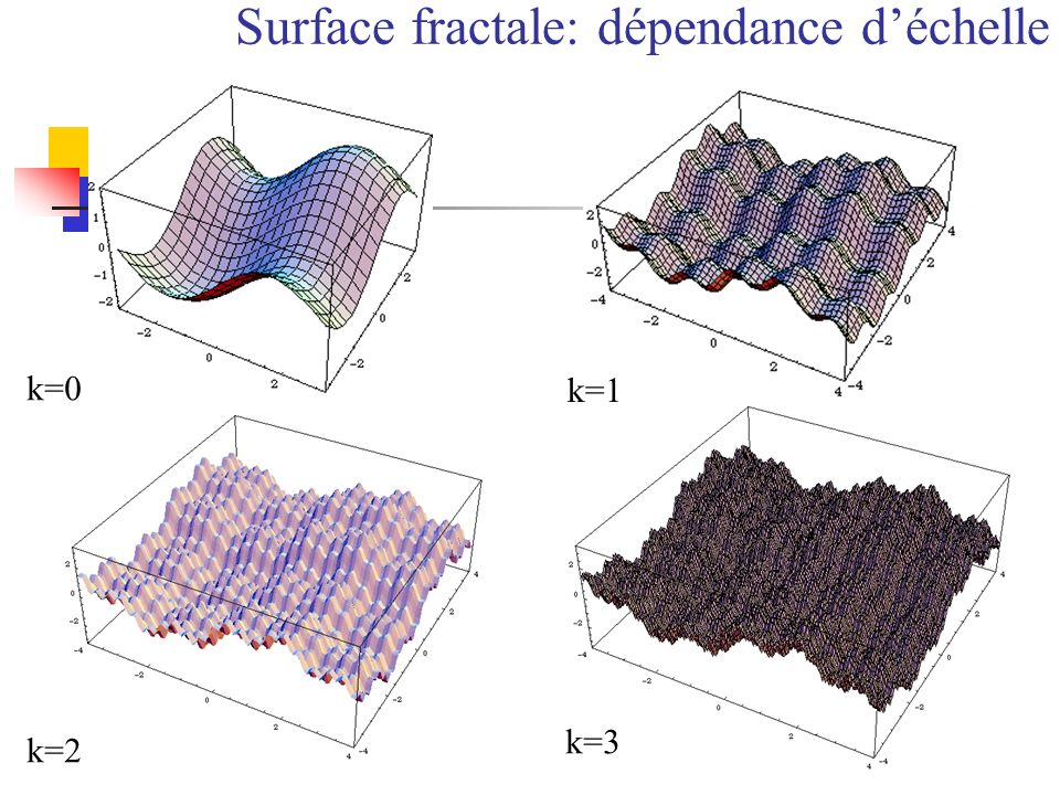 Surface fractale: dépendance d'échelle