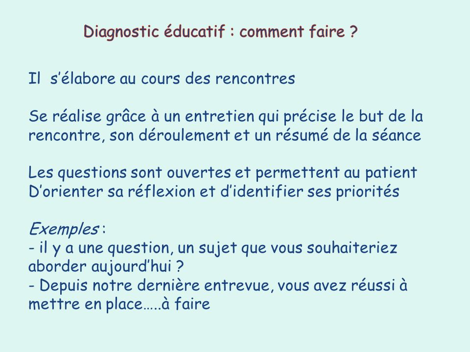 Diagnostic éducatif : comment faire