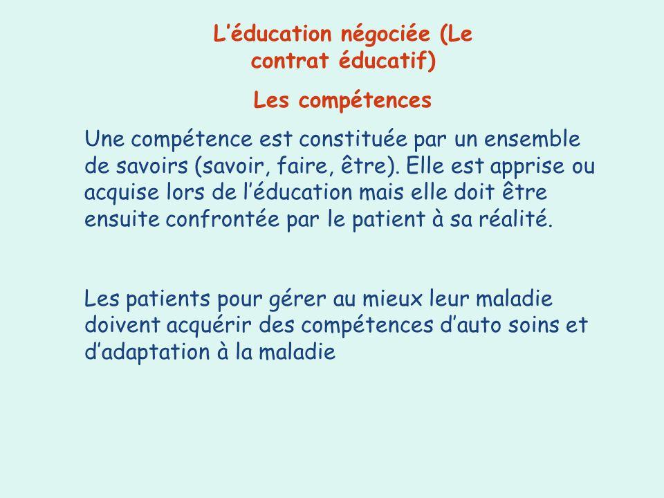 L'éducation négociée (Le contrat éducatif)