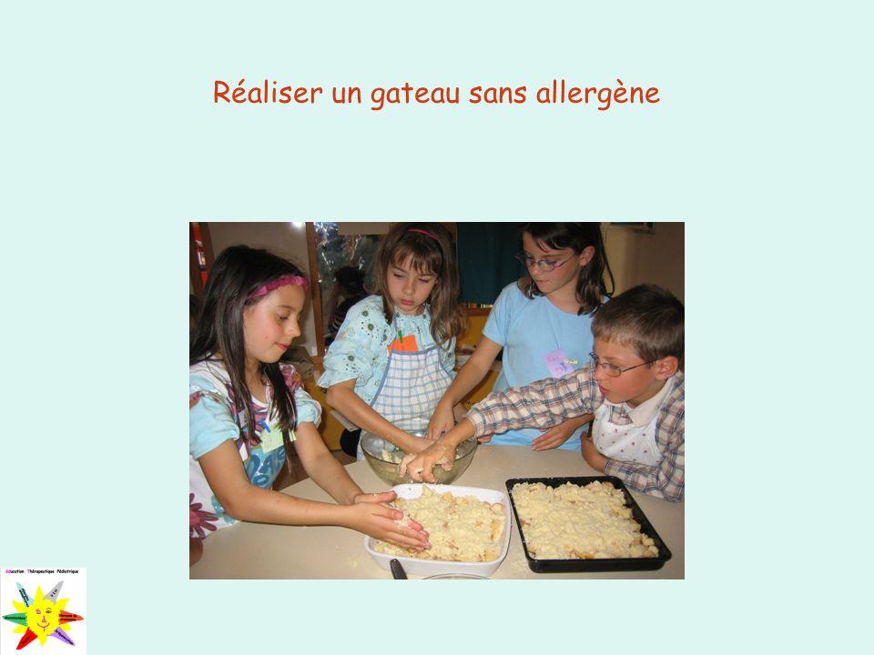 Réaliser un gateau sans allergène