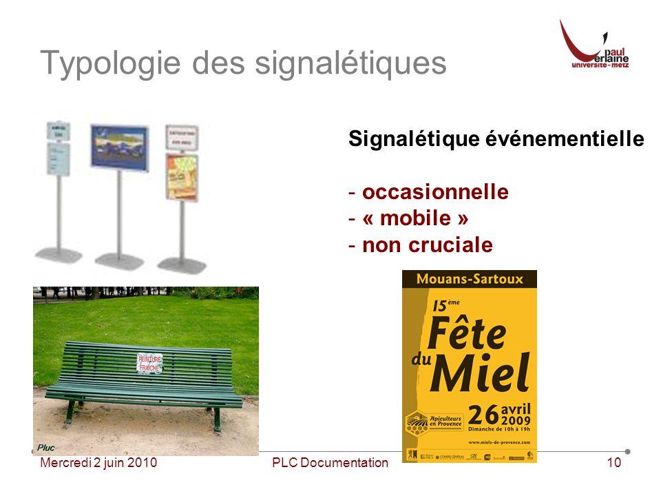 Typologie des signalétiques