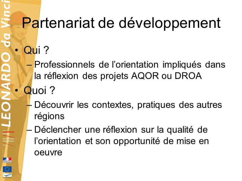 Partenariat de développement