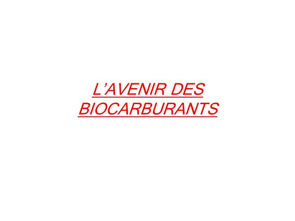 L'AVENIR DES BIOCARBURANTS