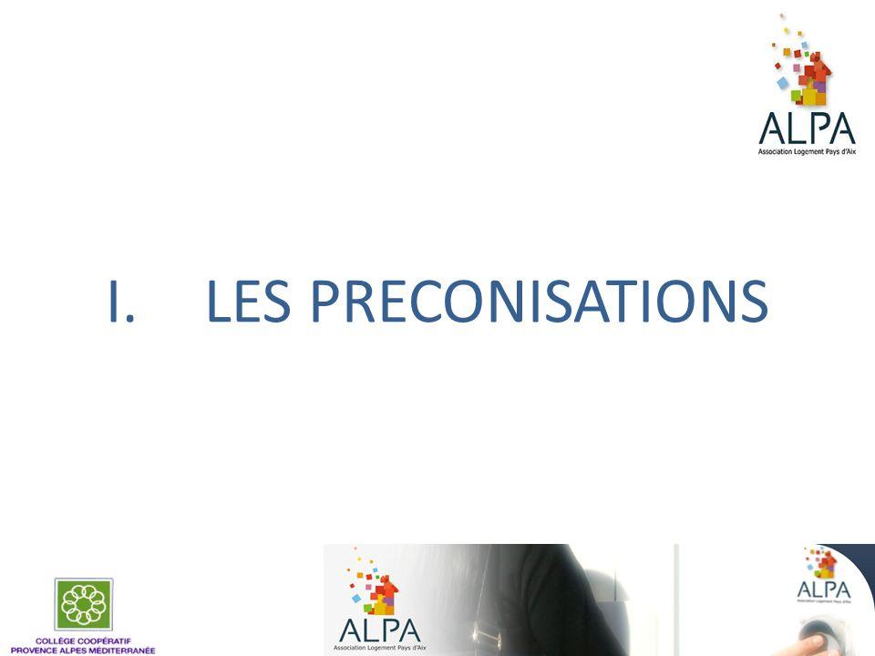 LES PRECONISATIONS 41
