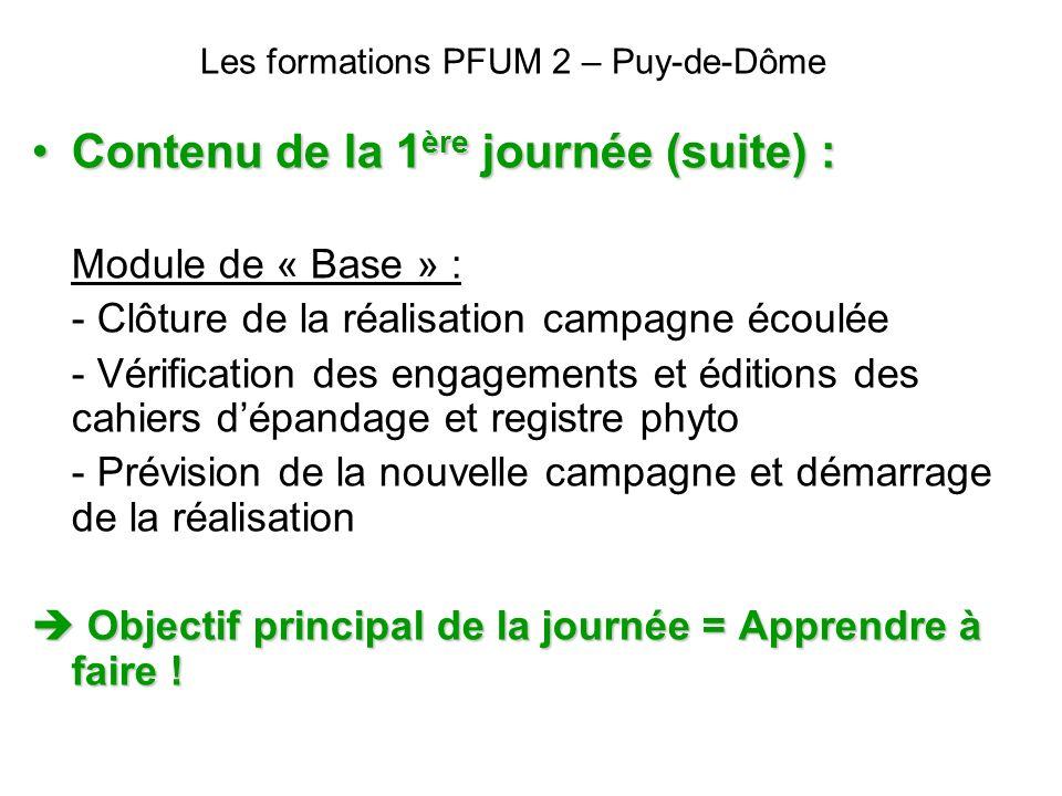 Les formations PFUM 2 – Puy-de-Dôme