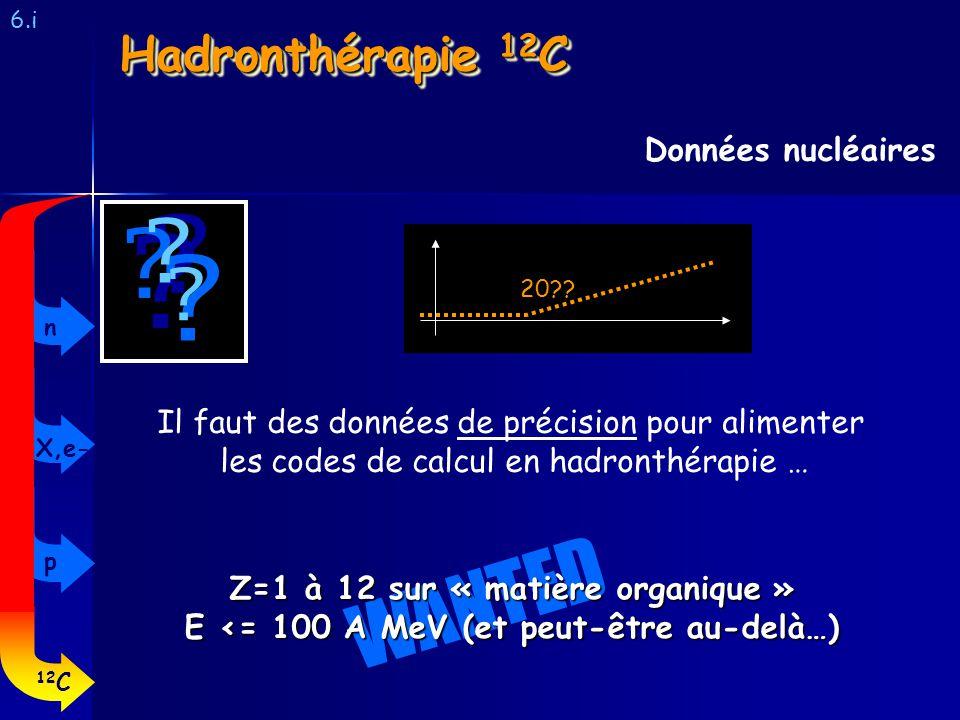 WANTED Hadronthérapie 12C Données nucléaires