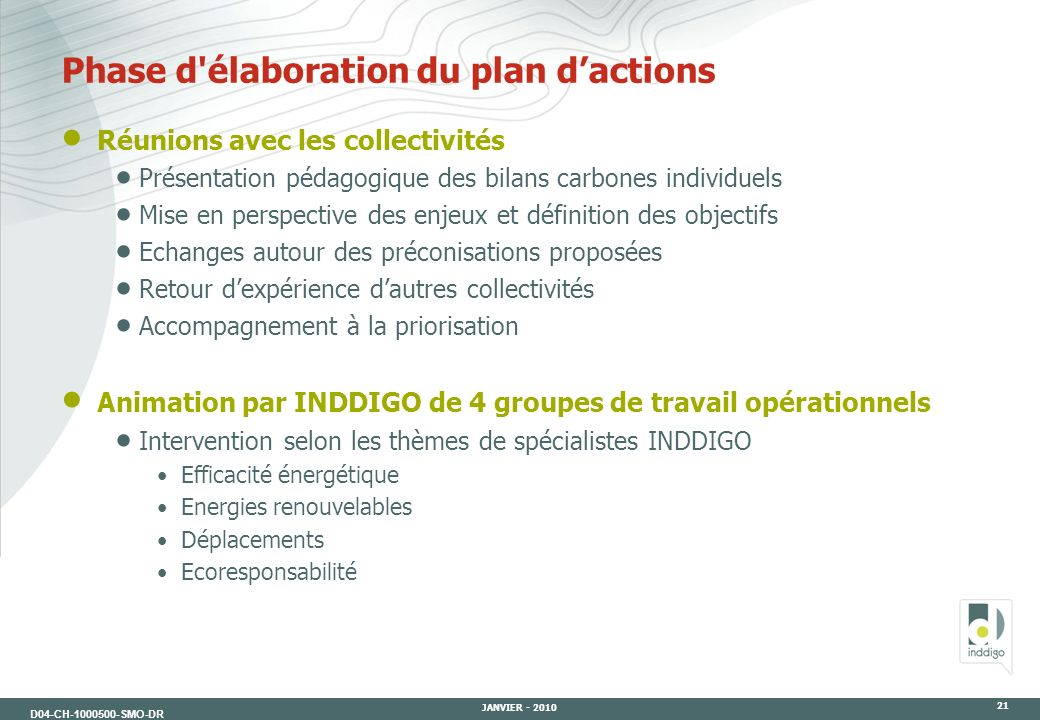 Phase d élaboration du plan d'actions