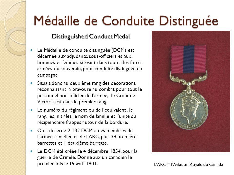Médaille de Conduite Distinguée