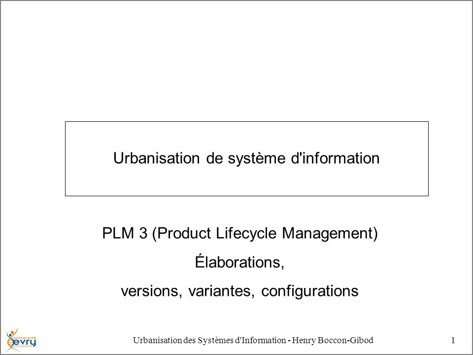 Urbanisation de système d information