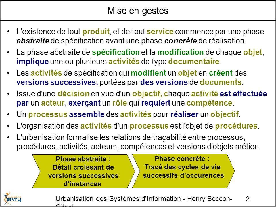 successifs d occurences