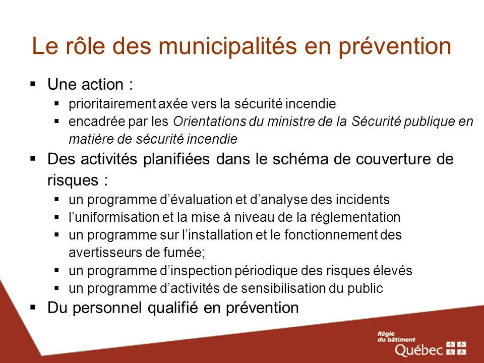 Le rôle des municipalités en prévention