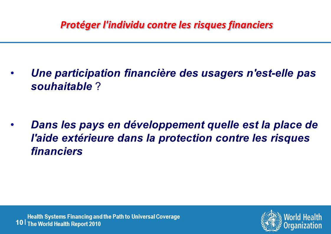 Protéger l individu contre les risques financiers