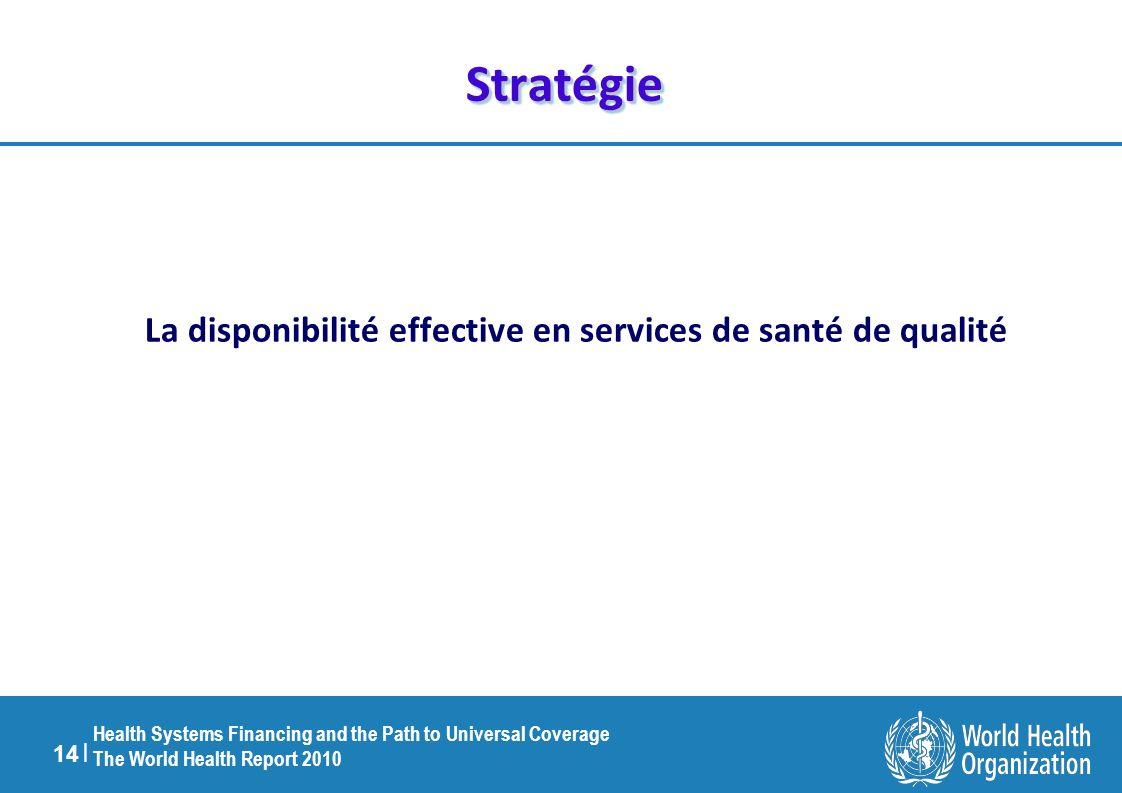 La disponibilité effective en services de santé de qualité