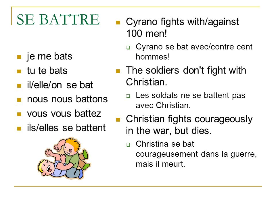 SE BATTRE Cyrano fights with/against 100 men!
