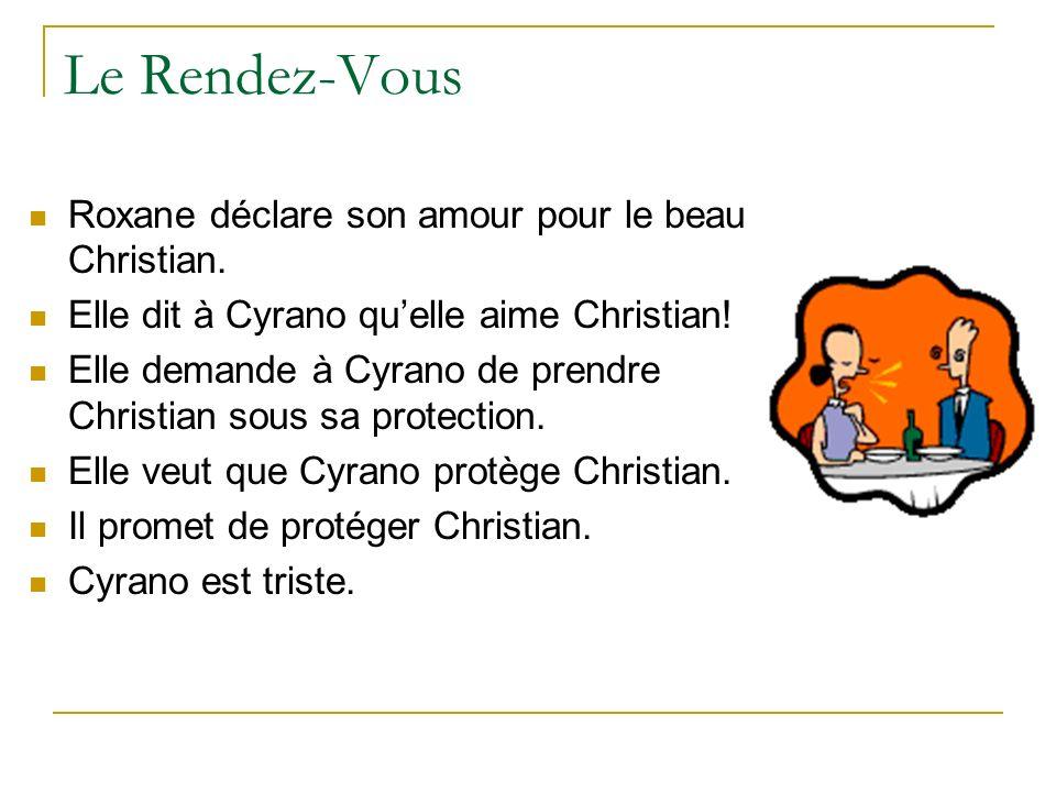 Le Rendez-Vous Roxane déclare son amour pour le beau Christian.
