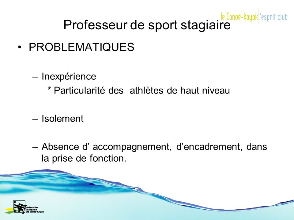 Professeur de sport stagiaire