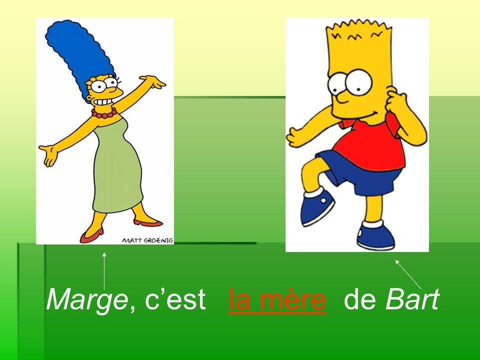 Marge, c'est de Bart la mère