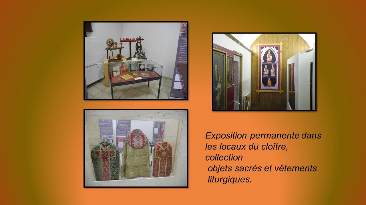Exposition permanente dans les locaux du cloître, collection