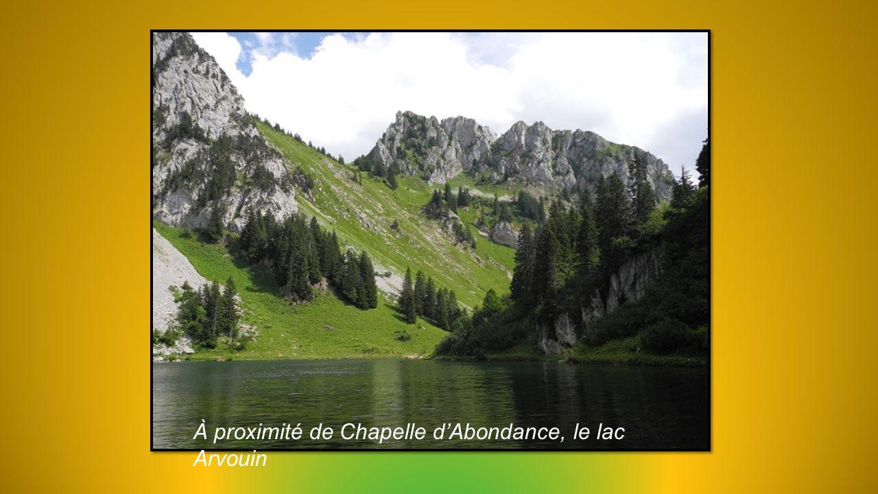 À proximité de Chapelle d'Abondance, le lac Arvouin