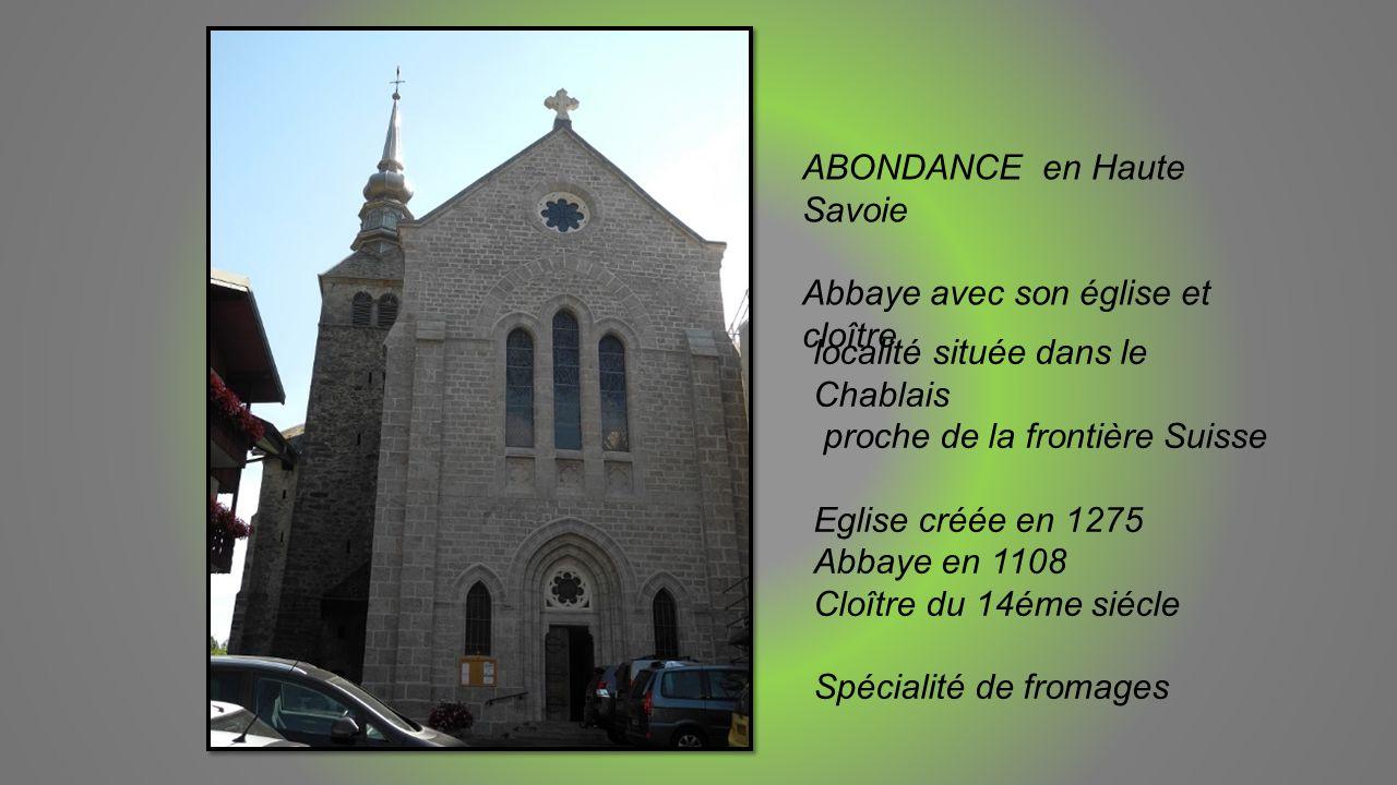 ABONDANCE en Haute Savoie